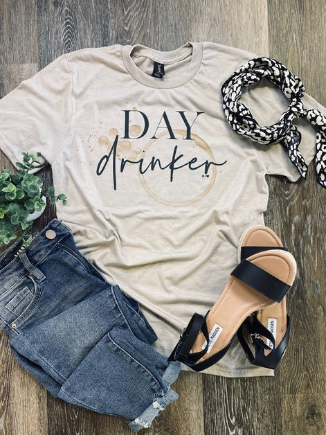 Day Drinker Graphic Tee - orangeshine.com