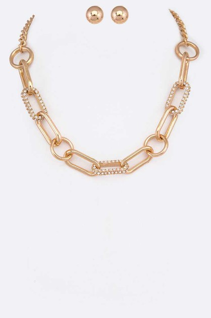 Crystal Accent Chain Link Iconic Nec - orangeshine.com