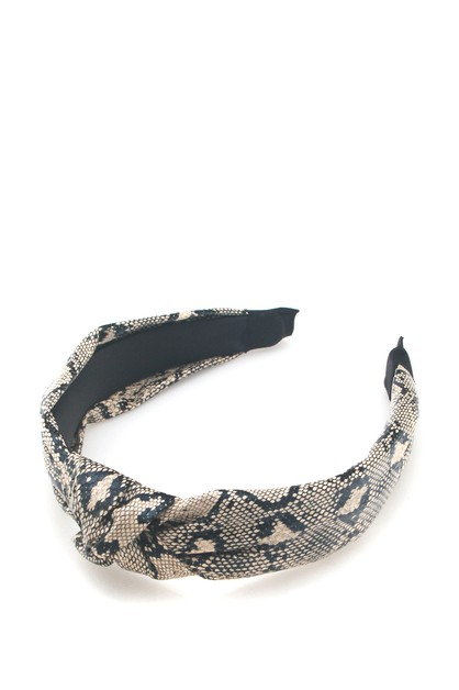 SNAKE PRINT  HAIR BAND - orangeshine.com