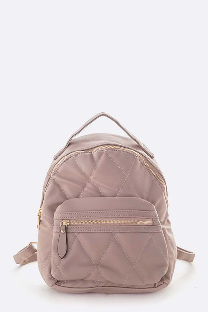 Soft Quilted Small Fashion Back Pack - orangeshine.com
