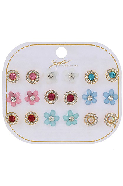 9-pair Multi Earring Set - orangeshine.com