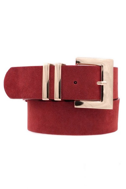 Faux Suede Metal Belt - orangeshine.com