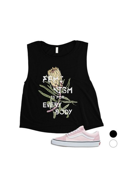 Feminism Is For Everybody Crop Top - orangeshine.com