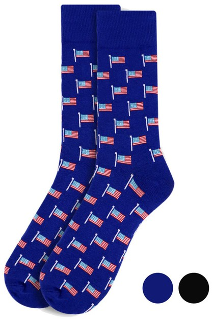 Mens American Flag Novelty Socks - orangeshine.com