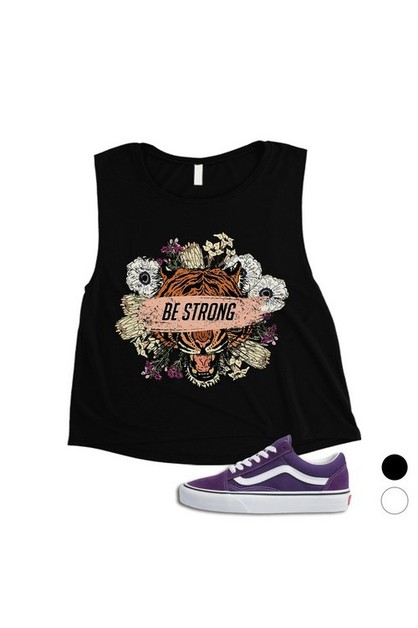 Be Strong Crop Top - orangeshine.com