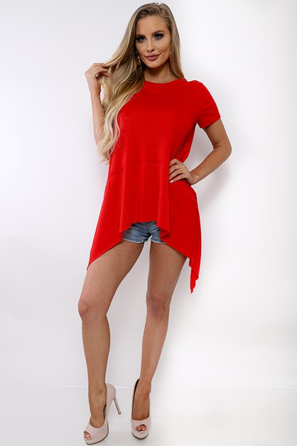 SHORT SLEEVE TUNIC TOP  - orangeshine.com