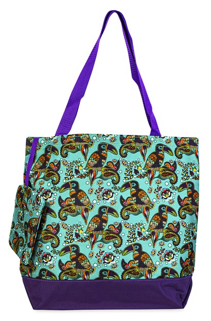 Toucan Bird Tote Bag 17 inch - orangeshine.com