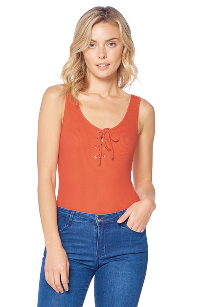 LADY COTTON TANK BODYSUIT - orangeshine.com