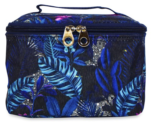 Tropical Leaves Cosmetic Makeup Bag - orangeshine.com