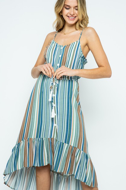 Open shoulder button down dress - orangeshine.com