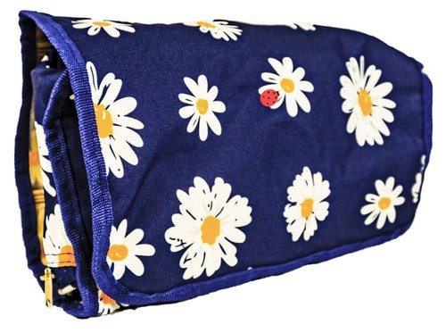 Daisy Floral Hanging Toiletry Bag  - orangeshine.com