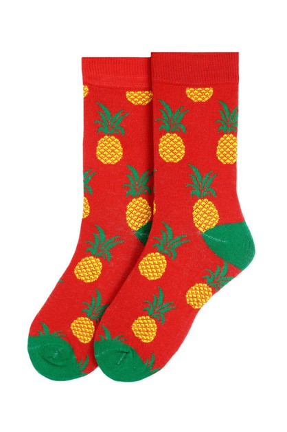 Womens Pineapple Novelty Socks - orangeshine.com