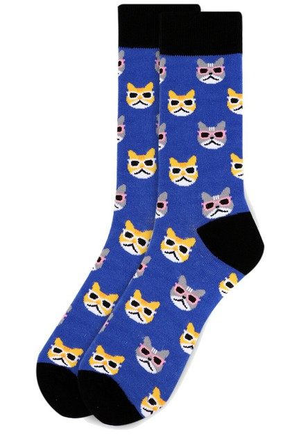 Mens Cool Cats Novelty Socks - orangeshine.com