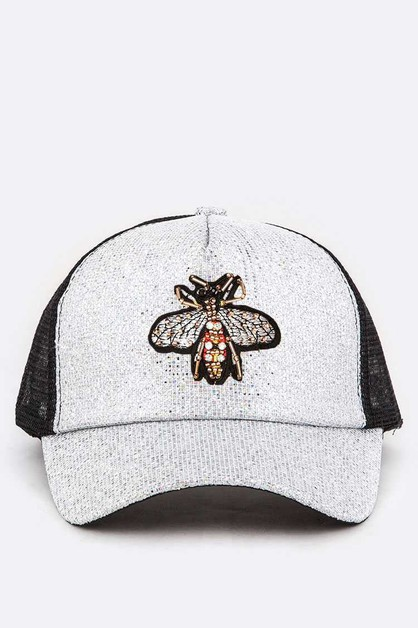 BEE Embellished TruckeR Cap - orangeshine.com