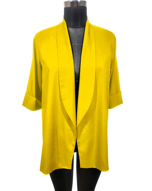 Boyfriend Blazer Canary Yellow - orangeshine.com