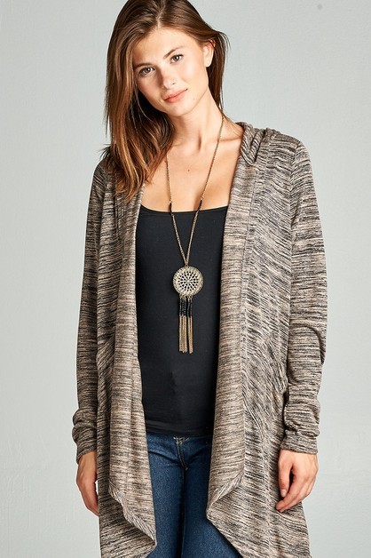 Asymmetric Fashion Cardigan Hoodie - orangeshine.com