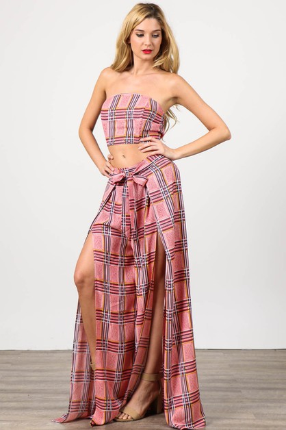 Two Piece Set of Tube Top with Front - orangeshine.com
