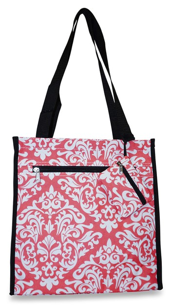 Damask Tote Bag 12 inch - orangeshine.com