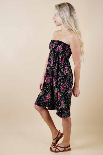 Black Floral Dress - orangeshine.com