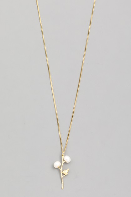Pearl Flower Pendant Necklace - orangeshine.com