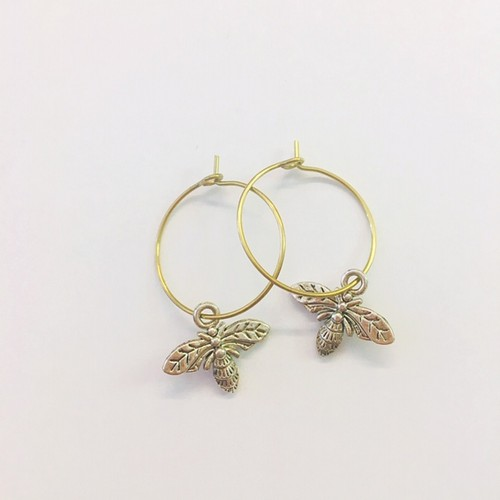 Bee Hoop earrings - orangeshine.com