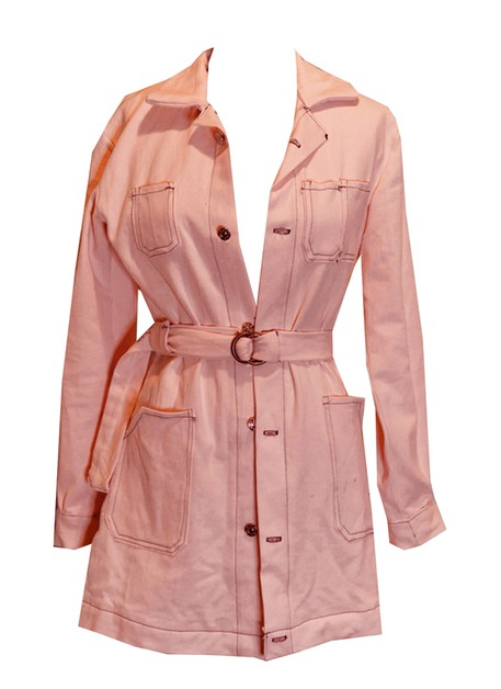 Peach Denim Duster Jacket - orangeshine.com