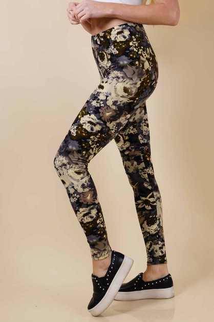 Floral Leggings - orangeshine.com