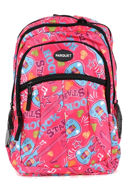 Guitar Pink Novelty Backpack - orangeshine.com