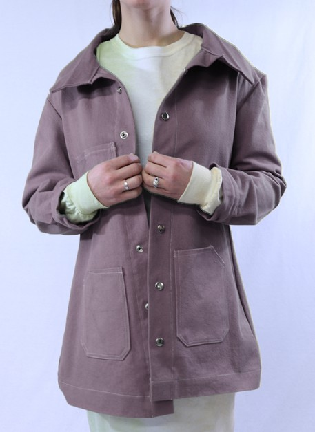 Grey Denim Duster Jacket - orangeshine.com