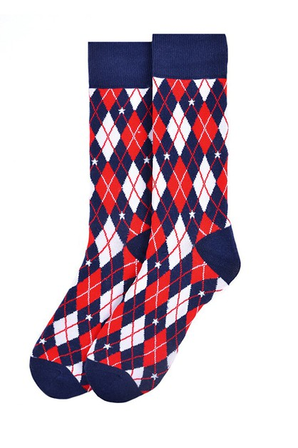 Mens Argyle Novelty Socks - orangeshine.com