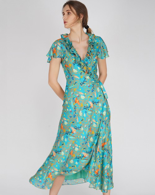 Cora Wrap Dress - orangeshine.com