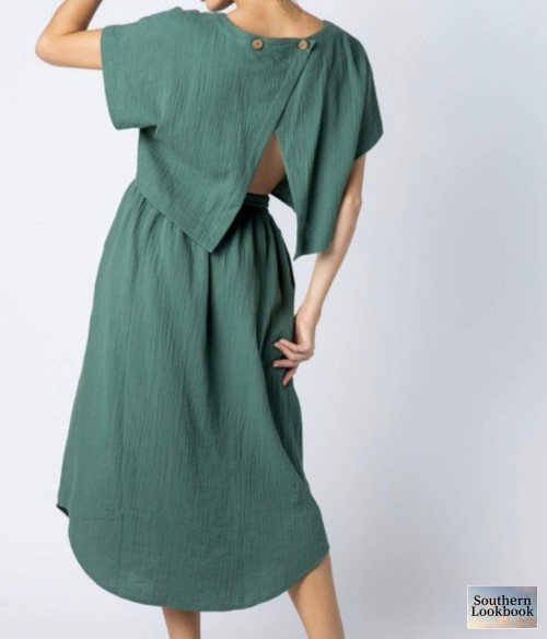 OVERSIZED OPEN BACK DRESS - orangeshine.com