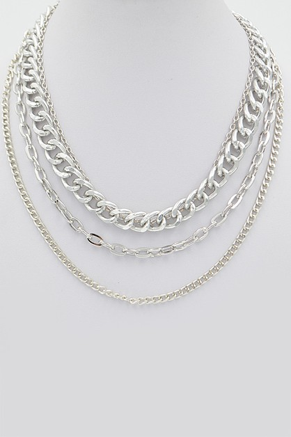 Multi Layered Chain Necklace - orangeshine.com