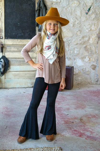 GIRLS FLARE PANTS - orangeshine.com