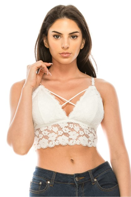 Cross lace bralette - orangeshine.com