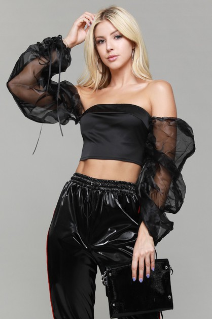 Sexy off-the-shoulder collar top - orangeshine.com