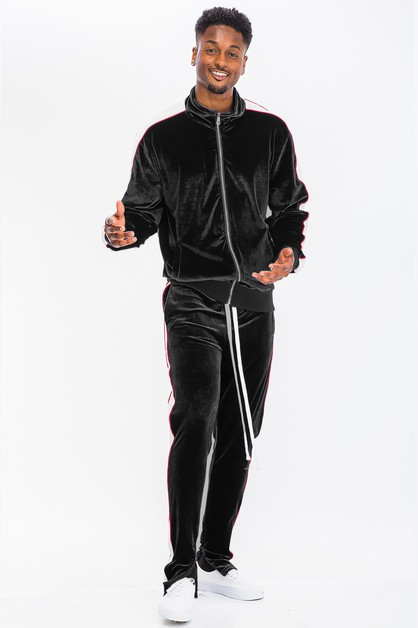 MENS VELOUR TRACK SET - orangeshine.com