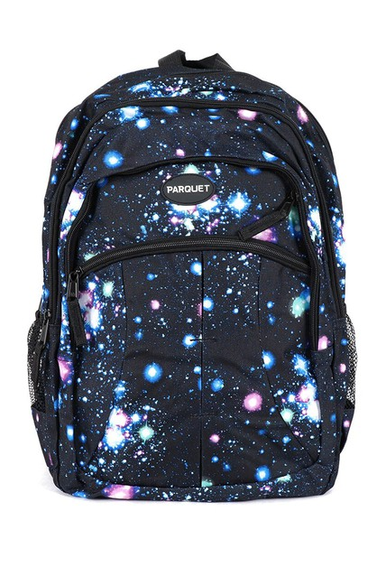 Cosmos Pattern Novelty Backpack - orangeshine.com