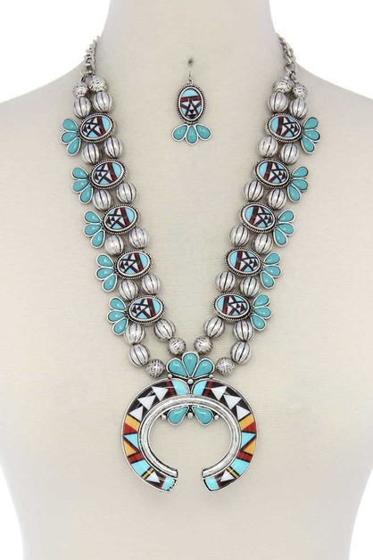 AZTEC OPEN PENDANT NECKLACE - orangeshine.com