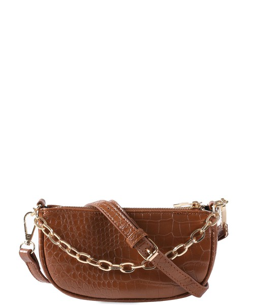 Crocodile Embosed  Crossbody Bag - orangeshine.com