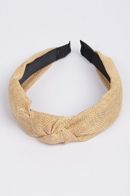 Knotted Fabric Headband - orangeshine.com