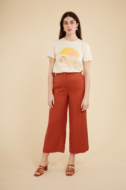 PATRICIE - LADIES WOVEN PANTS - orangeshine.com
