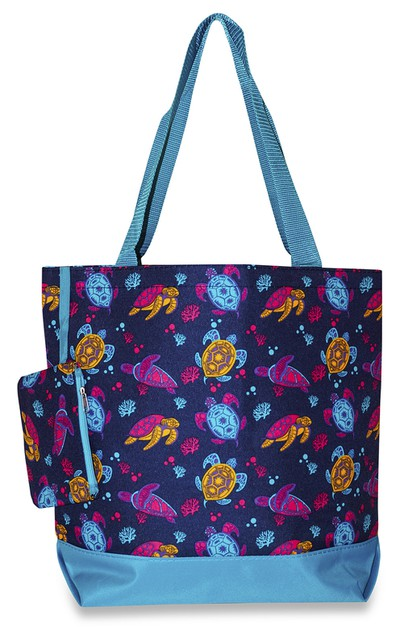 Sea Turtle Tote Bag 17 inch - orangeshine.com