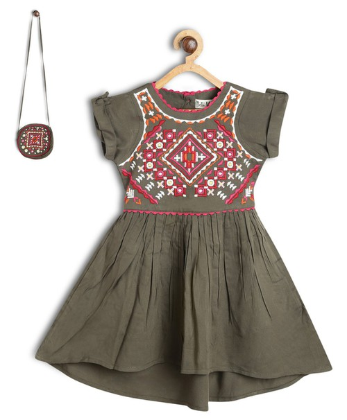 Boho Embroidered dress with Bag - orangeshine.com