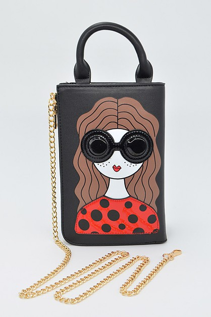 Girl With Sunglasses Clutch - orangeshine.com