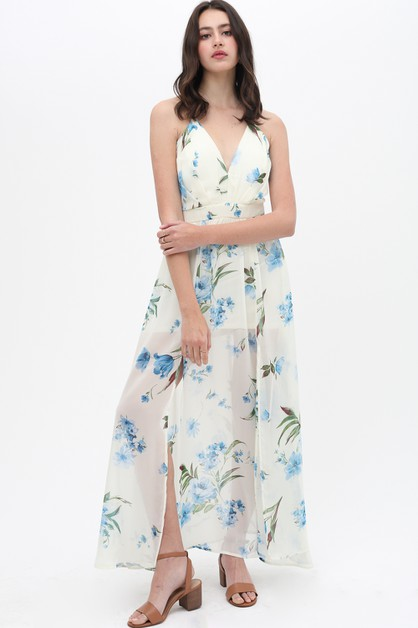 FLORAL PRINTED DRESS LIGHT AIRY - orangeshine.com