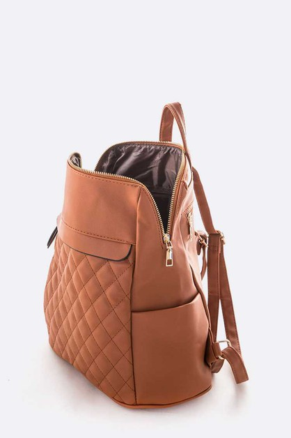 Soft Quilted Fashion Back Pack - orangeshine.com