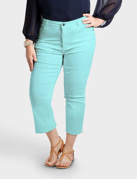 Plus Size Stretch Capri Pants - orangeshine.com