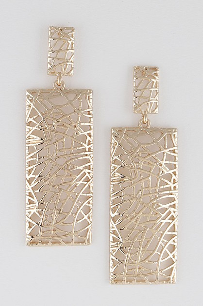 Open Cut Abstract Earrings - orangeshine.com