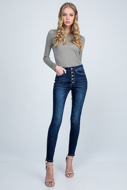 HIGH RISE SKINNY WITH 5-BUTTON FLY - orangeshine.com